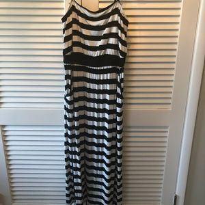 Lane Bryant 18/20 Black and White Striped Maxi